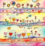 I Love You Card royalty free illustration