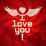 I love you card Royalty Free Stock Image