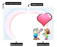 I love you - card Royalty Free Stock Image