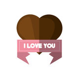 I love you card brown heart card Royalty Free Stock Photos