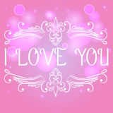 I love you card with decorative divider Stock Images