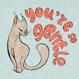 I love you card, greetings with cute animals, cartooning cat Royalty Free Stock Images