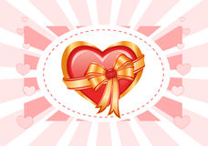 I love you card with shiny heart Royalty Free Stock Image