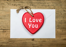 I love you card with text Stock Photos