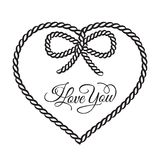 I love you - card. Royalty Free Stock Images