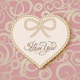 I love you - card. Stock Photos