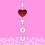 I love you card vector illustration Royalty Free Stock Images