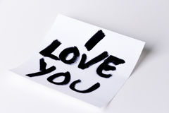 I love you card Stock Image
