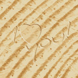 I Love you carved lettering Stock Photo