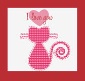 I love you cat card Stock Images