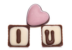 I love you chocolates Stock Photography