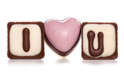 I love you chocolates Stock Images