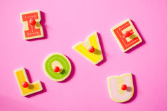 I LOVE YOU. stock photography