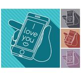 I love you. Colorful illustrations. vector illustration