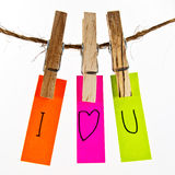 I love you colorful word Royalty Free Stock Images