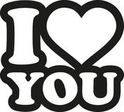 I love you comic. Style vector Stock Image