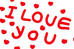 'i love you' composition from plasticine Royalty Free Stock Images
