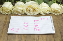 I love you concept Royalty Free Stock Photo