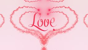 I love you Love confession. Valentine`s Day heart made of rose pink splash isolated on light pink background. Share love. Holiday card. Love proposal. Pink heart stock images