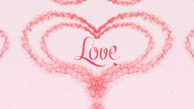 I love you Love confession. Valentine`s Day heart made of rose pink splash isolated on light pink background. Share love stock photos