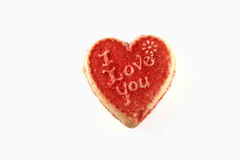 I Love You Cookie Royalty Free Stock Images