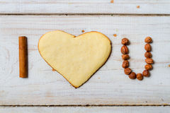 I love you with cookies Royalty Free Stock Images