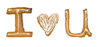 I Love You Cookies Royalty Free Stock Image