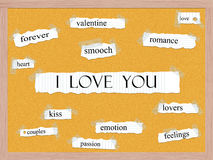 I Love You Corkboard Word Concept Royalty Free Stock Photography