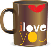 I love you cup stock illustration