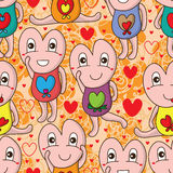I love you cute seamless pattern Stock Image