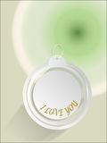 I love you  cycle tag green and white vector  illustrations Royalty Free Stock Images