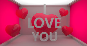 I Love You 3D Text Royalty Free Stock Image