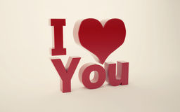 I love you 3d text Stock Images