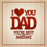 I love you Dad card. Stock Image