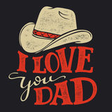 I love you Dad Father`s Day illustration Stock Image