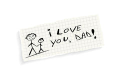 I love you, Dad! Stock Photo