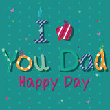 I love you dad Stock Images