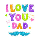 I love you, dad. Stock Images