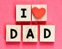 I love you Dad Royalty Free Stock Images