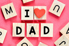 I love you Dad Royalty Free Stock Photos