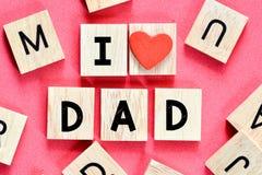 I love you Dad Royalty Free Stock Photos