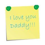 I love you Daddy! Stock Photos