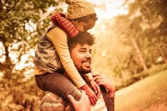 I love you daddy. royalty free stock photography