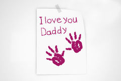I love you daddy note Stock Image