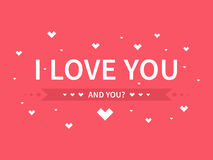 I love you. Decorative banner Stock Photos