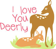 I Love You Deerly Royalty Free Stock Photos