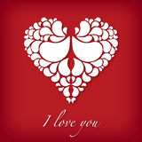 I love you design with abstract heart vector illustration