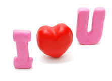I Love You (Diagonal) Royalty Free Stock Photos