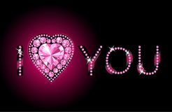 I Love You / Diamond heart / vector background Stock Photo