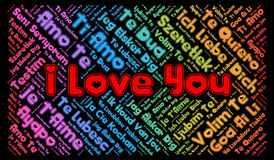 I Love you in different languages Stock Photo